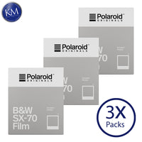 Polaroid Originals Black & White SX-70 Instant Fresh Film (24 Exposures) - 3 Pack
