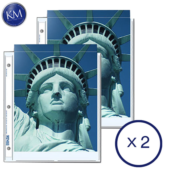 "Print File Archival Storage Pages for Prints or Documents | 8.5 x 11"", 2 Pockets - 25 Pack x 2"