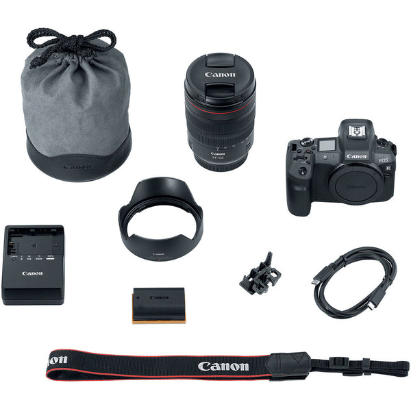 Canon EOS R Mirrorless Digital Camera with 24-105mm Lens, 64GB Memory and Flash Striker Deluxe Bundle
