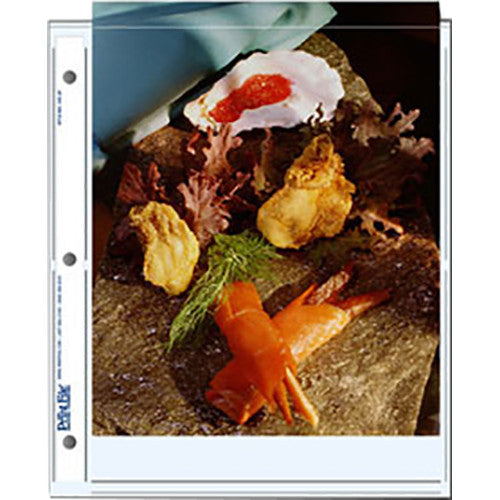 "Print File Archival Storage Pages for Prints | 8 x 10"", 2 Pockets - 500 Pack"
