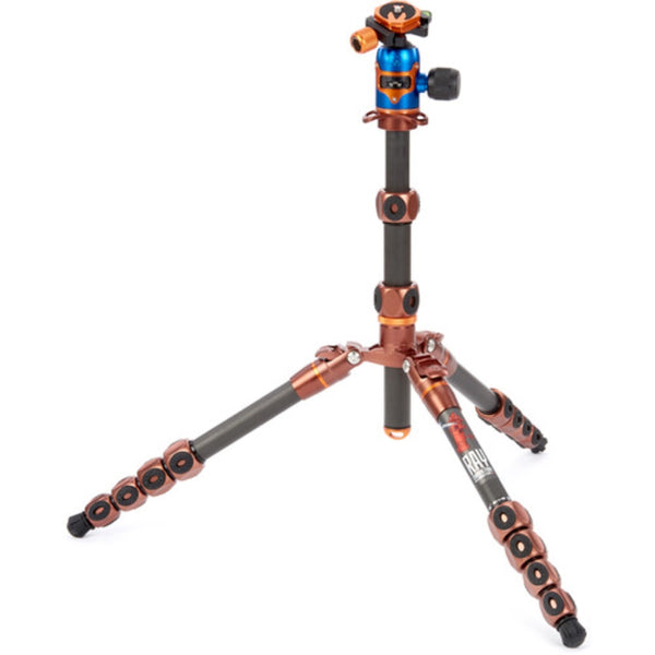 3 Legged Thing Legends Ray Carbon Fiber Tripod with AirHed Vu Ball Head Set (Bronze / Blue)