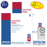 "Epson Cold Press right 13""x19"" 25 Sheets - 2 Pack"