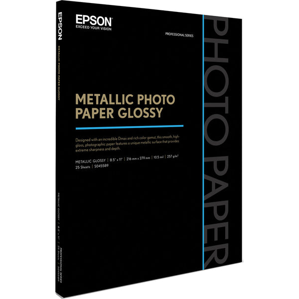"Epson Metallic Photo Paper Glossy (8.5 x 11"", 25 Sheets)"
