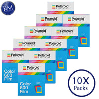 Polaroid Originals Color 600 Instant Fresh Film (Color Frames Edition, 80 Exposures) - 10 Pack