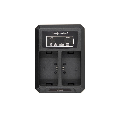 Promaster Dual Charger - USB for Canon LP-E6(N)