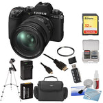 FUJIFILM X-S10 Mirrorless Digital Camera with 16-80mm Lens with 32GB SD Card + Cleaning Kit + UV Filter + Extra Battery & Charger + Camera Bag + Tripod