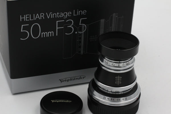 Voigtlander M 50mm f3.5 Heliar Used Like New