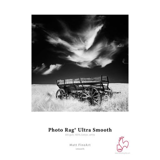 "Hahnemuhle Photo Rag Ultra Smooth Paper 305gsm | 13 x 19"" - 25 Sheets"