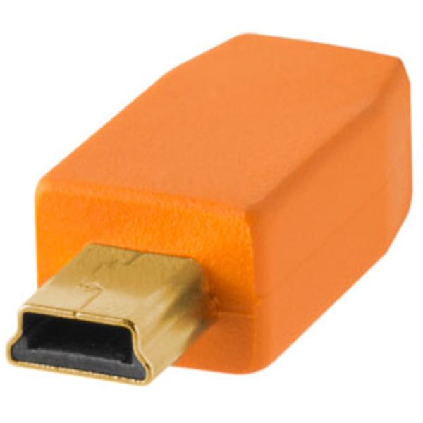 Tether Tools TetherPro USB 2.0 Type-A to 5-Pin Mini-USB Cable - Orange, 1'