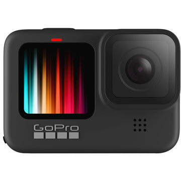 GoPro HERO9 Black Action Camera with GoPro Dual Battery Charger + Battery for HERO9 Black & 128GB Micro-SD Card