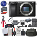 "Sony Alpha a6100 Mirrorless Digital Camera (Body Only) and Striker Deluxe Bundle with 12"" Tripod"