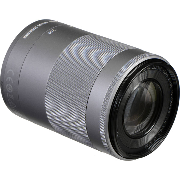 Canon EF-M 55-200mm f/4.5-6.3 IS STM Lens in Silver