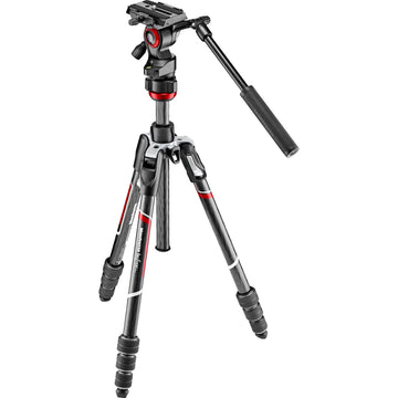 Manfrotto Befree Live Carbon Fiber Video Tripod Kit with Twist Leg Locks and Two Replacement Quick Release Plates.