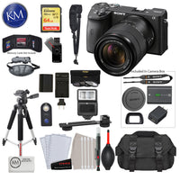 Sony Alpha a6600 Mirrorless Digital Camera with 18-135mm Lens with Deluxe Bundle: Includes – Sandisk Extreme Card, Spare NPFZ100 Battery, Charger for NPFZ100, and more!