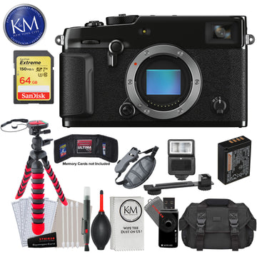 Fujifilm X-Pro3 Mirrorless Digital Camera (Body Only, Black) with 64GB Extreme SD Card, DSLR Gadget Bag, Flexible Tripod, Hand Strap, Cleaning Kit