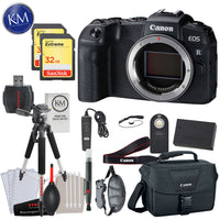 Canon EOS RP Mirrorless Digital Camera (Body Only) with Deluxe Striker Bundle: Includes- Memory Card, Extra Battery, Large Tripod, Handstrap, Large Bag, and Striker Starter Kit