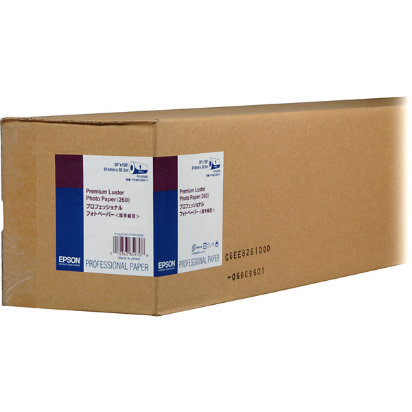 "Epson Premium Luster Photo Inkjet Photo Paper 260 36"" x 100' - Roll"