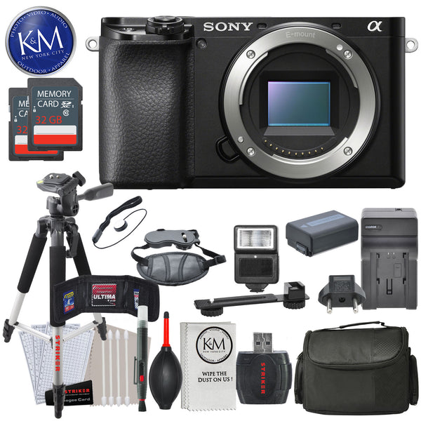 Sony Alpha a6100 Mirrorless Digital Camera (Body Only) and Striker Deluxe Bundle
