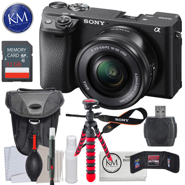Sony a6400 Mirrorless Digital Camera w/ 16-50mm Lens, 32GB & Essential Bundle