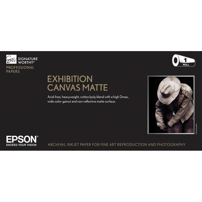 "Epson Exhibition Canvas Matte | 17"" x 40' - Roll"