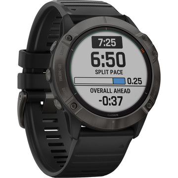 Garmin fenix 6X Pro Solar, Ti ,Carbon Gray DLC w/Black Band