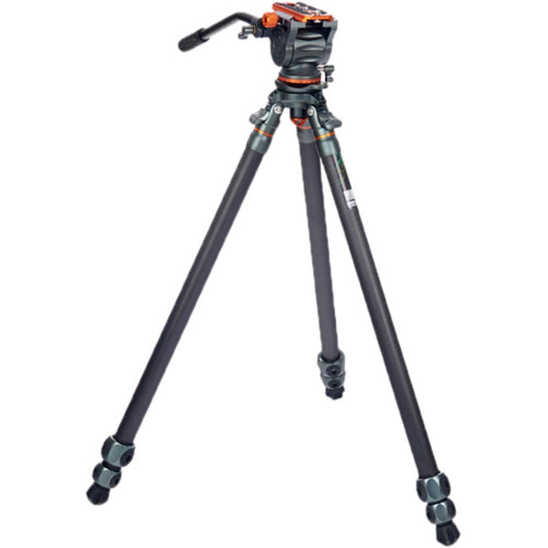 3 Legged Thing Mike Carbon Fiber Tripod with Quick Leveling Base and AirHed Cine-S Fluid Head System