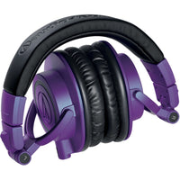 Audio-Technica ATH-M50x Closed-Back Monitor Headphones (Purple and Black)