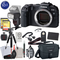 Canon EOS RP Mirrorless Digital Camera (Body Only) with 64GB Memory and Flash Striker Deluxe Bundle