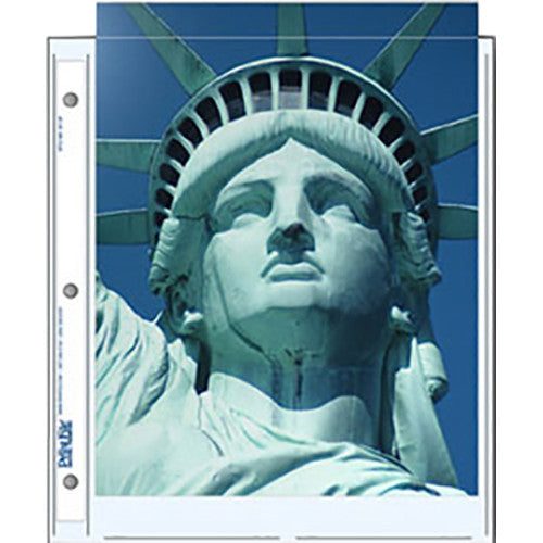 "Print File Archival Storage Pages for Prints or Documents | 8.5 x 11"", 2 Pockets - 500 Pack"
