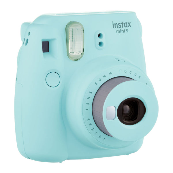Fuji Instax Mini 9 Camera Ice Blue + Carry Case + Rechargeable AA Batteries & Charger + Instax Mini Film (40 Sheets)