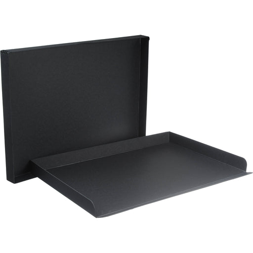 "Archival Methods 01-117 Drop Front Archival Storage Box | 16.5 x 20.5 x 1.5"" - Black"