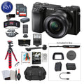 Sony Alpha a6100 Mirrorless Digital Camera with 16-50mm Lens with Premium Bundle: Includes – Tripod, Flash, Lens Filters, and Corel Software