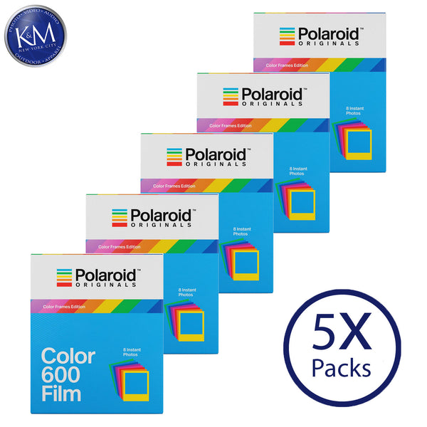 Polaroid Originals Color 600 Instant Fresh Film (Color Frames Edition, 40 Exposures) - 5 Pack