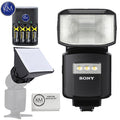Sony HVL-F60RM Wireless Radio Flash with Essential K&M Bundle: Includes – Mini Soft Box, Rechargeable Battery pack and Micro Fiber Cloth.