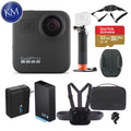 GoPro Max 360 Action Camera with Sports Kit + Handler + Super Charger + Extra Battery + Vented Helmet Strap Mount