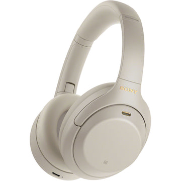 Sony WH-1000XM4 Wireless Noise-Canceling Over-Ear Headphones (Silver)