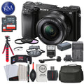"Sony Alpha a6100 Mirrorless Digital Camera w/ 16-50mm Lens (Black) and Striker Deluxe Bundle with 12"" Tripod"