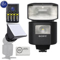 Sony HVL-F45RM Wireless Radio Flash with Essential K&M Bundle: Includes – Mini Soft Box, Rechargeable Battery pack and Micro Fiber Cloth.