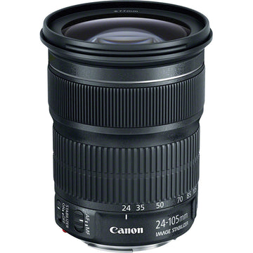Canon EF 24-105mm f/3.5-5.6 IS STM Lens with Advance Striker Bundle: Includes – SD Card Reader, 3pc Filter Set, Cleaning Kit, Large Monopod, and Lens Pouch.