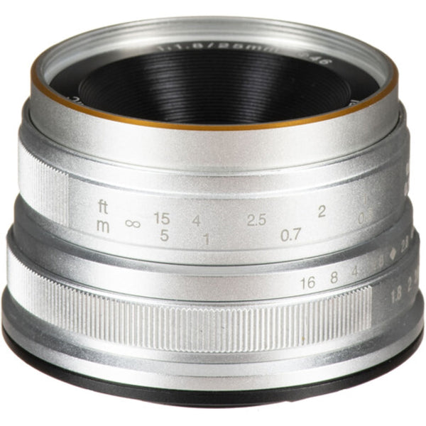 7artisans Photoelectric 25mm f/1.8 Lens for Micro Four Thirds - Silver