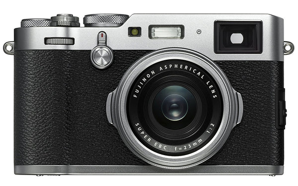 FUJIFILM X100F Digital Camera (Silver) w/ 32GB & Essential Bundle: Includes – 32GB Memory Card, 12 inch tripod, Cleaning Kit, and Camera Bag.