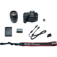 Canon EOS 7D Mark II DSLR Camera with 18-135mm f/3.5-5.6 IS USM Lens & W-E1 Wi-Fi Adapter