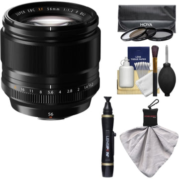Fujifilm 56mm f/1.2 XF R Lens with 3 UV/CPL/ND8 Filters Kit for X-A2, X-E2, X-E2s, X-M1, X-T1, X-T10, X-Pro2 Cameras