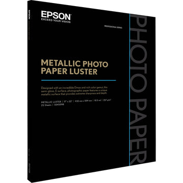 "Epson Metallic Photo Paper Luster | 17 x 22"" - 25 Sheets"