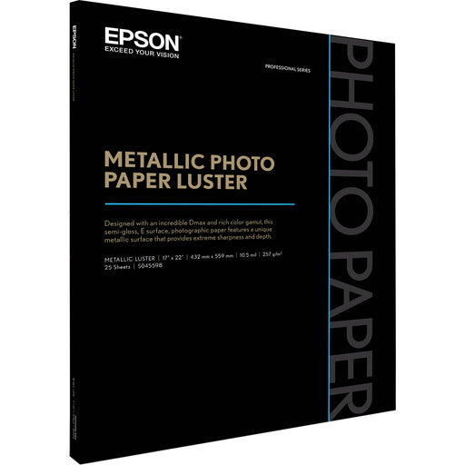 "Epson S045598 Metallic Photo Paper Luster (17 x 22"", 25 Sheets)"