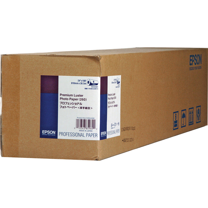 "Epson Premium Luster Inkjet Photo Paper 260 | 24"" x 100' - Roll"