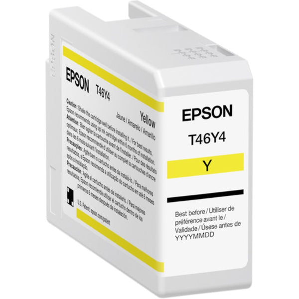 Epson T46Y Yellow UltraChrome PRO10 Ink Cartridge | 50mL
