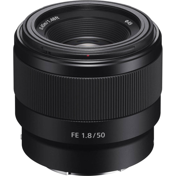 Sony FE 50mm f/1.8 Lens w/ 32GB Memory and Lens Bundle