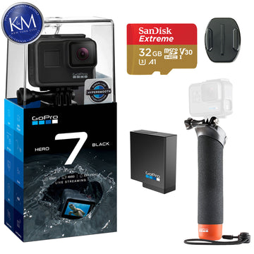GoPro Hero 7 Black Action Camera w/ GoPro The Handler Floating Hand Grip and 32GB Memory Card