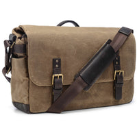 ONA The Union Street Camera Messenger Bag Waxed Canvas - Field Tan